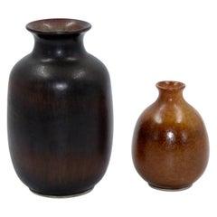 Midcentury Ceramic Vases by Egon Larsson, Höganäs Keramik, 1950s