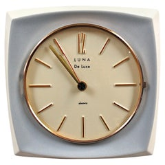 Midcentury Ceramic Wall Clock by Luna