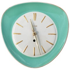 Midcentury Ceramic Wall Clock by Peter