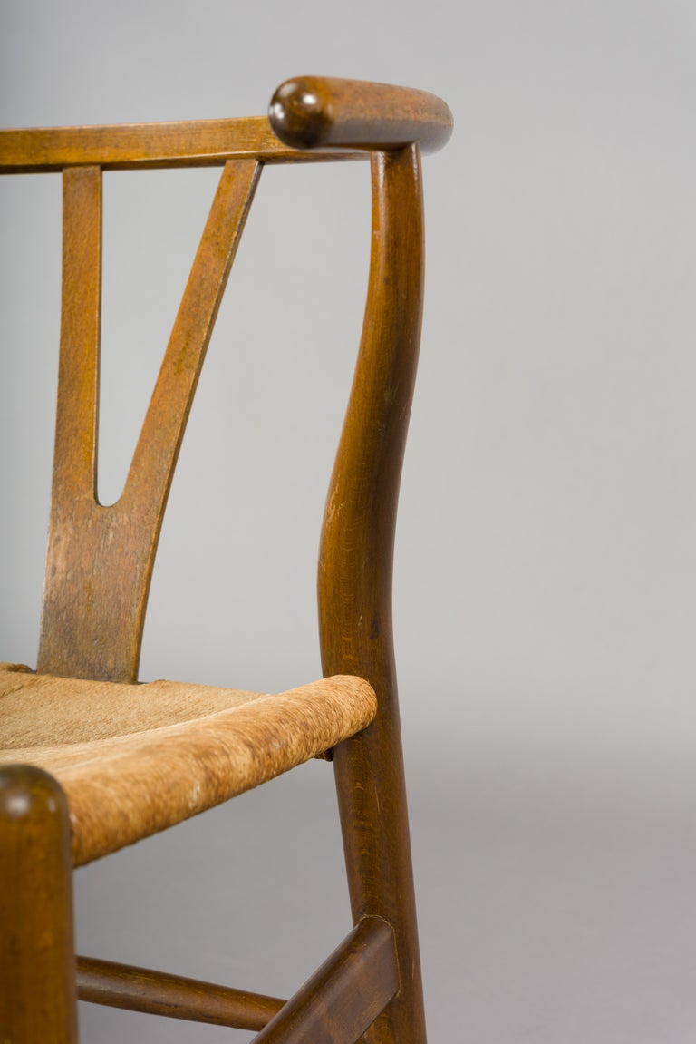 Midcentury CH24 Wishbone Chairs by Hans J. Wegner for Carl Hansen & Søn Made in For Sale 6