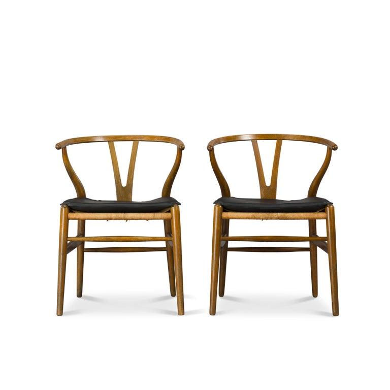 Mid-Century Modern Midcentury CH24 Wishbone Chairs by Hans J. Wegner for Carl Hansen & Søn Made in For Sale