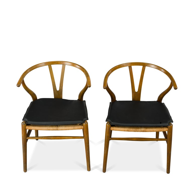 Mid-20th Century Midcentury CH24 Wishbone Chairs by Hans J. Wegner for Carl Hansen & Søn Made in For Sale