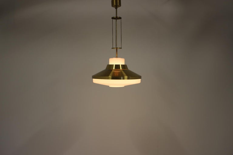Midcentury Chandelier by Napako, 1970s For Sale 1