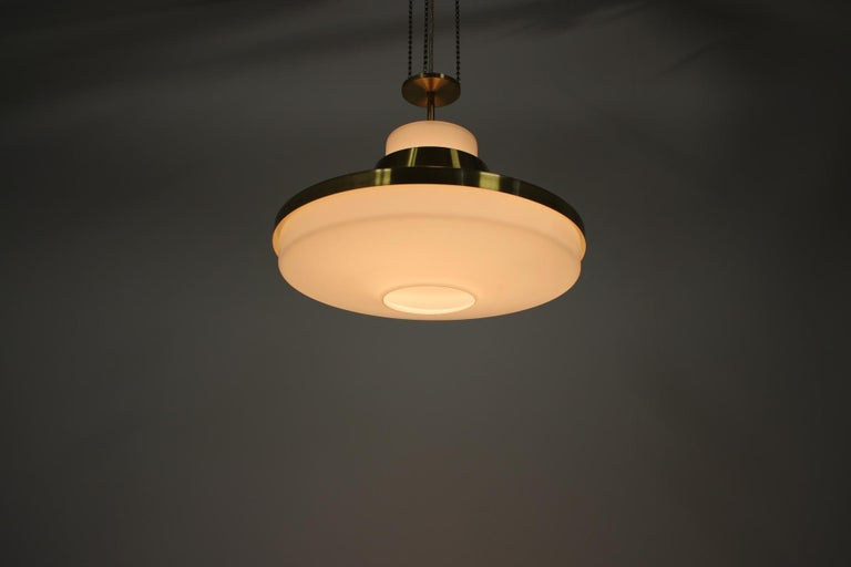 Midcentury Chandelier by Napako, 1970s For Sale 2