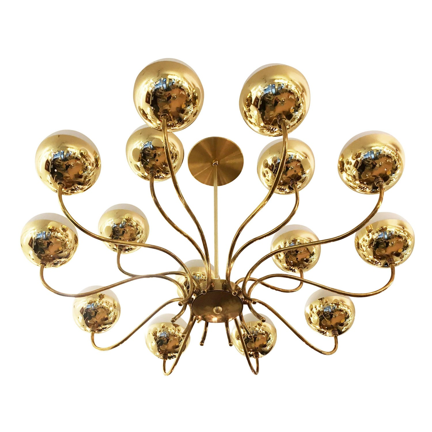 Mid century chandelier in the style of stilnovo for sale at 1stdibs aloadofball Gallery