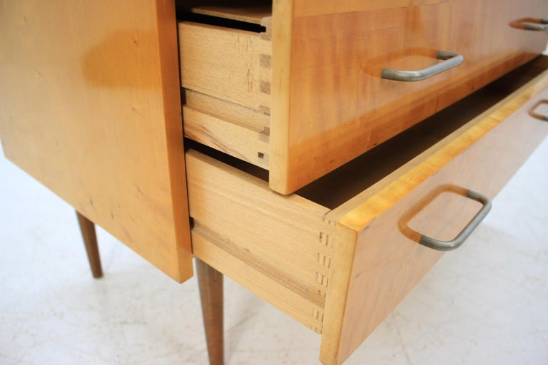 Birch Midcentury Chest of Drawers, 1960s For Sale