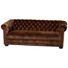 Midcentury Chesterfield Sofa with New Velvet Upholstery