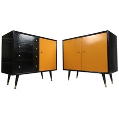 Midcentury Chests by George Nelson for Herman Miller, a Pair