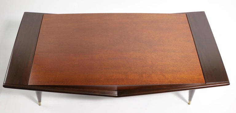 Mid Century Chevron Base Coffee Table by Gordons Fine Furniture For Sale 4