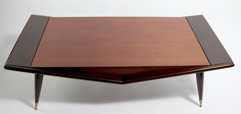 Mid Century Chevron Base Coffee Table by Gordons Fine Furniture For Sale 6
