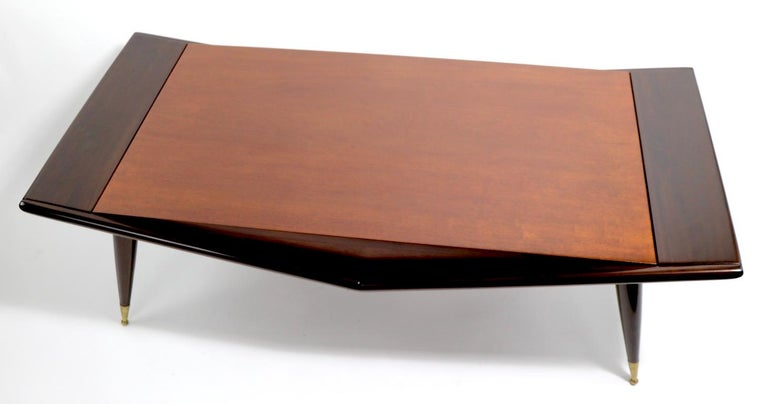 Mid Century Chevron Base Coffee Table by Gordons Fine Furniture For Sale 9