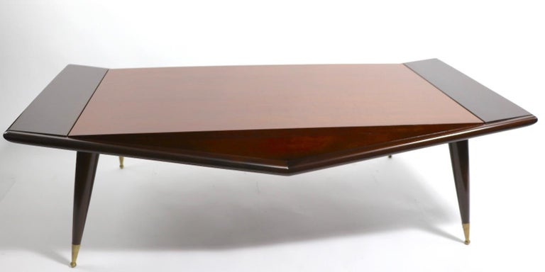 Mid-Century Modern Mid Century Chevron Base Coffee Table by Gordons Fine Furniture For Sale