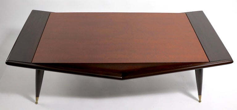 American Mid Century Chevron Base Coffee Table by Gordons Fine Furniture For Sale