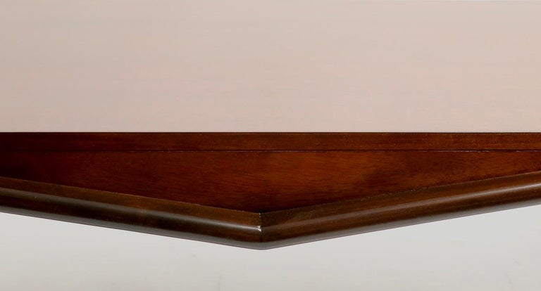 Mid Century Chevron Base Coffee Table by Gordons Fine Furniture For Sale 2