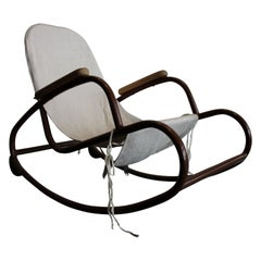 Midcentury Children's Rocking Chair, Czech Design