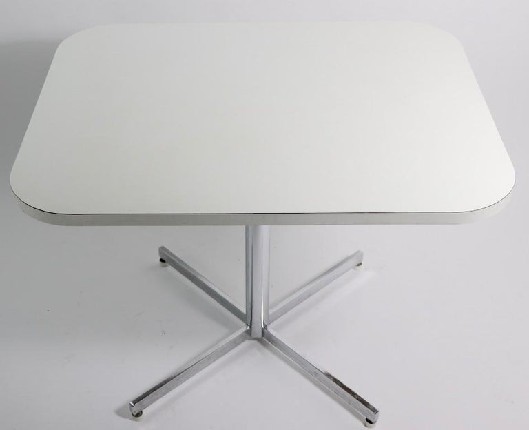 Post-Modern Mid Century Chrome Formica Dining Cafe Kitchen Table Attributed to Chromecraft For Sale