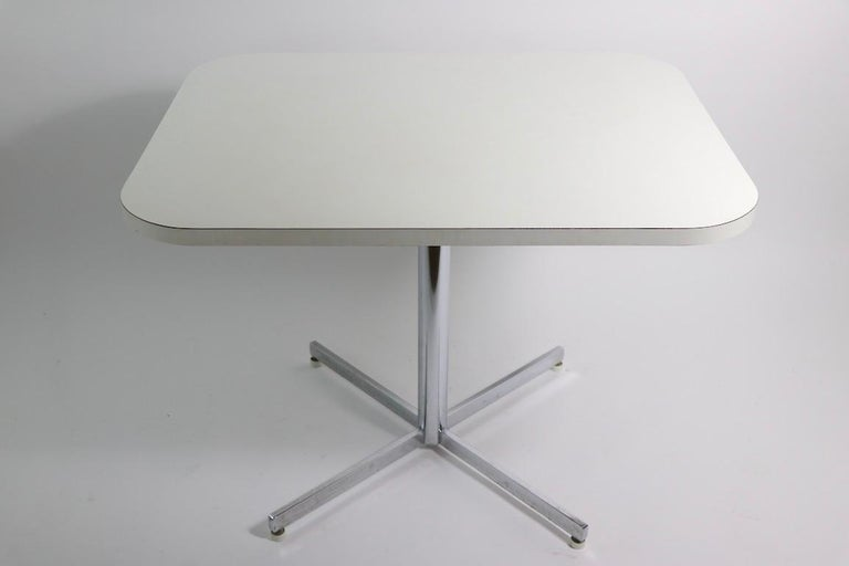 American Mid Century Chrome Formica Dining Cafe Kitchen Table Attributed to Chromecraft For Sale