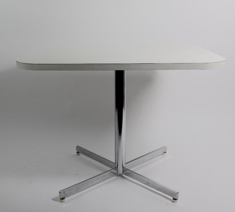 20th Century Mid Century Chrome Formica Dining Cafe Kitchen Table Attributed to Chromecraft For Sale