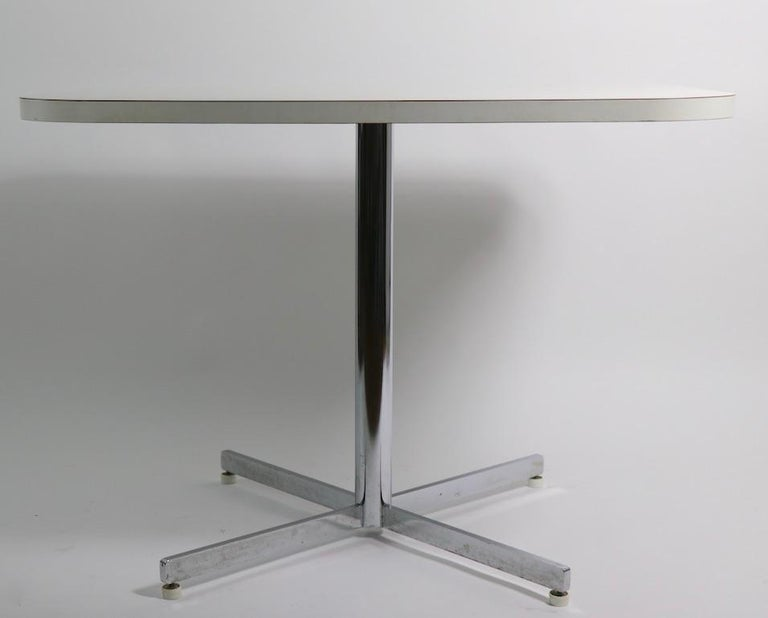 Mid Century Chrome Formica Dining Cafe Kitchen Table Attributed to Chromecraft For Sale 1