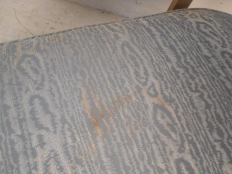Mid-Century Chrome Frame Upholstered Bench For Sale 4