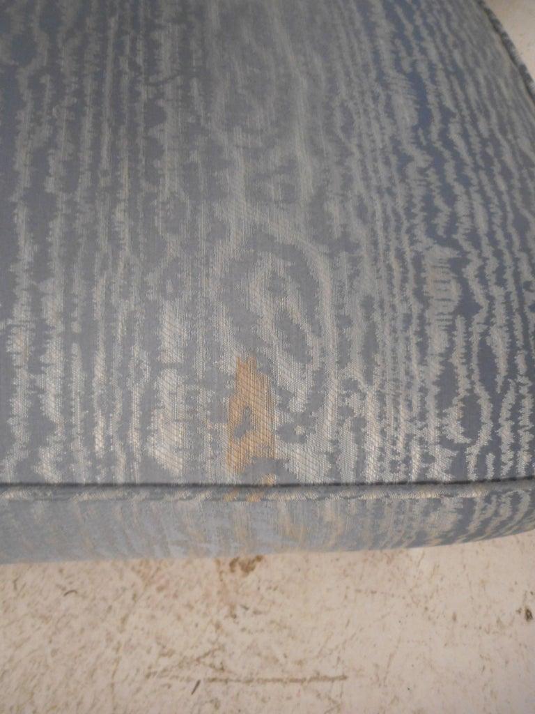 Mid-Century Chrome Frame Upholstered Bench For Sale 5