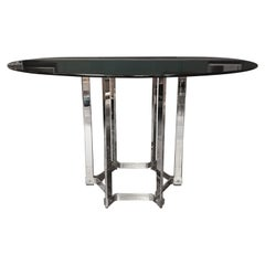 Mid Century Chrome & Glass Table by Richard Young for Merrow Associates