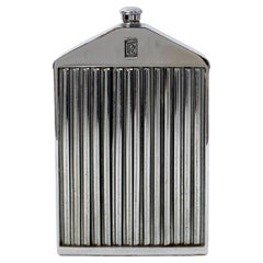 Mid-Century Chrome Plate over Rolls Royce Radiator Grill with Decanter