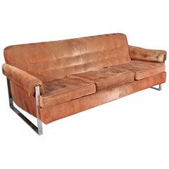 Midcentury Chrome Sofa