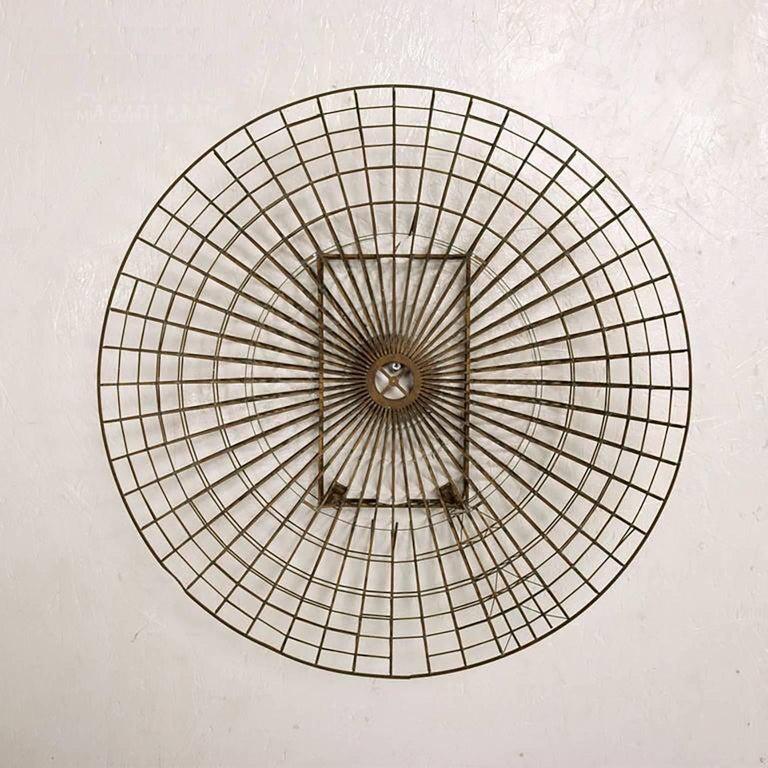 For your consideration a beautiful Mid-Century Circular Brass Wall Sculpture.  circa, 1960s. Diameter: 21