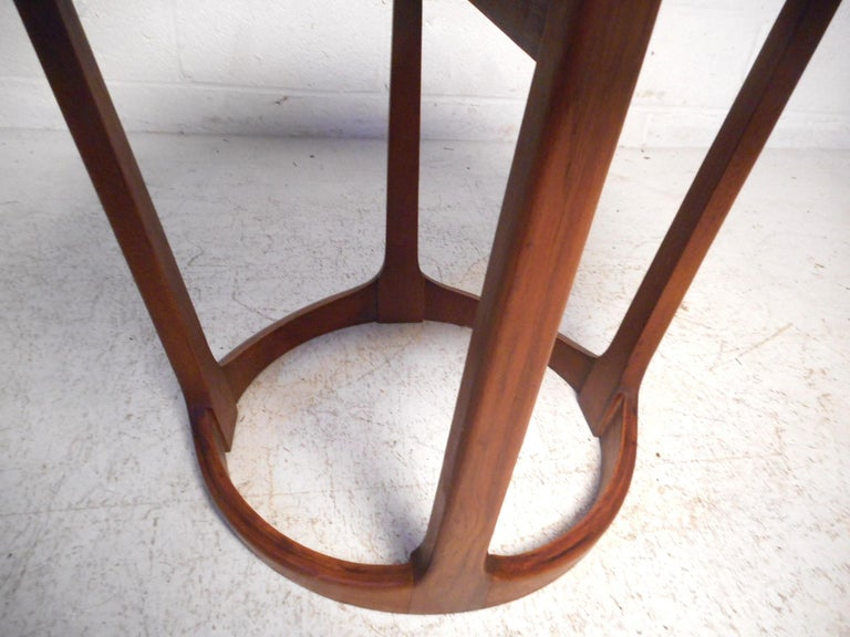 American Midcentury Circular Side Table by Lane Furniture For Sale
