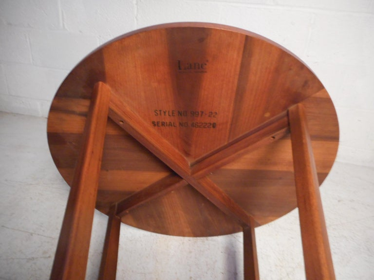 Mid-20th Century Midcentury Circular Side Table by Lane Furniture For Sale