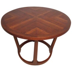 Midcentury Circular Side Table by Lane Furniture