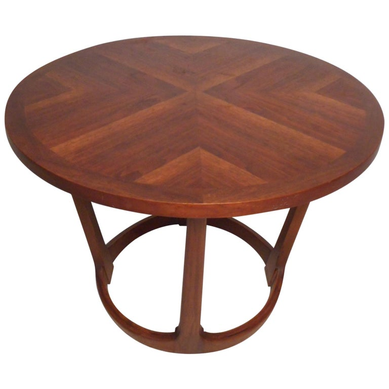 Midcentury Circular Side Table by Lane Furniture For Sale