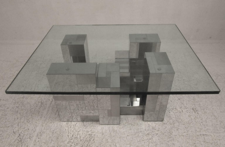 American Midcentury Cityscape Coffee Table by Paul Evans for Directional For Sale