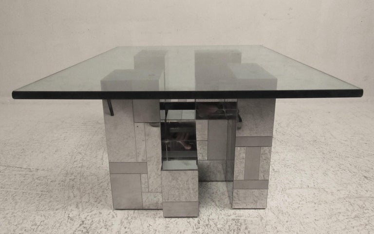 Midcentury Cityscape Coffee Table by Paul Evans for Directional In Good Condition For Sale In Brooklyn, NY