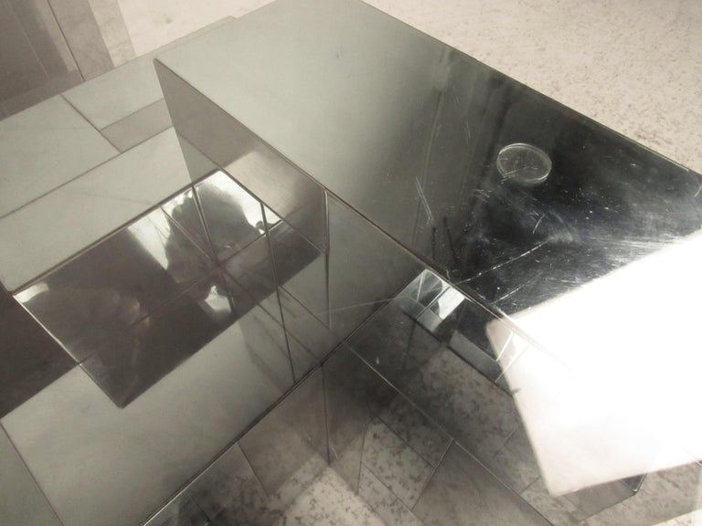 Glass Midcentury Cityscape Coffee Table by Paul Evans for Directional For Sale