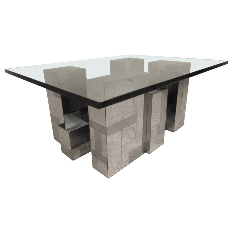 Midcentury Cityscape Coffee Table by Paul Evans for Directional For Sale