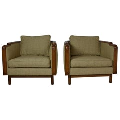 Mid-century Deco Club Chairs Set of 2