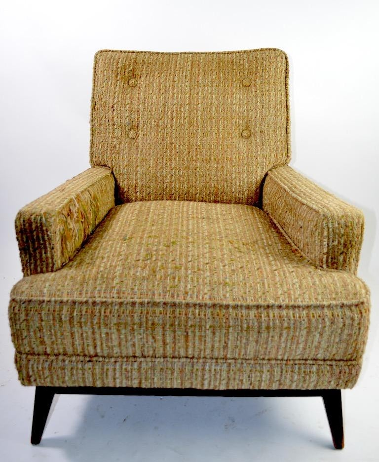 Upholstery Mid Century  Club Lounge Chair after McCobb as is For Sale