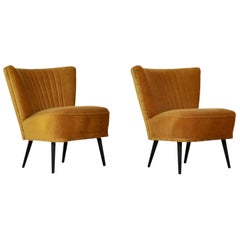 Midcentury Cocktail Chairs, 1960s, Set of 2