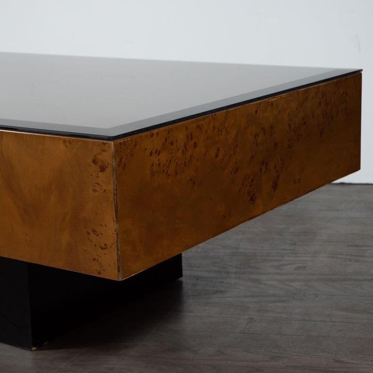 Mid-Century Modern Midcentury Cocktail Table in Carpathian Elm and Ebonized Walnut For Sale