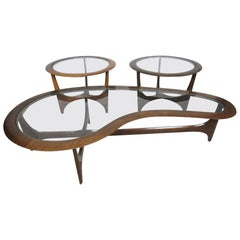 Midcentury Coffee Table and Side Tables