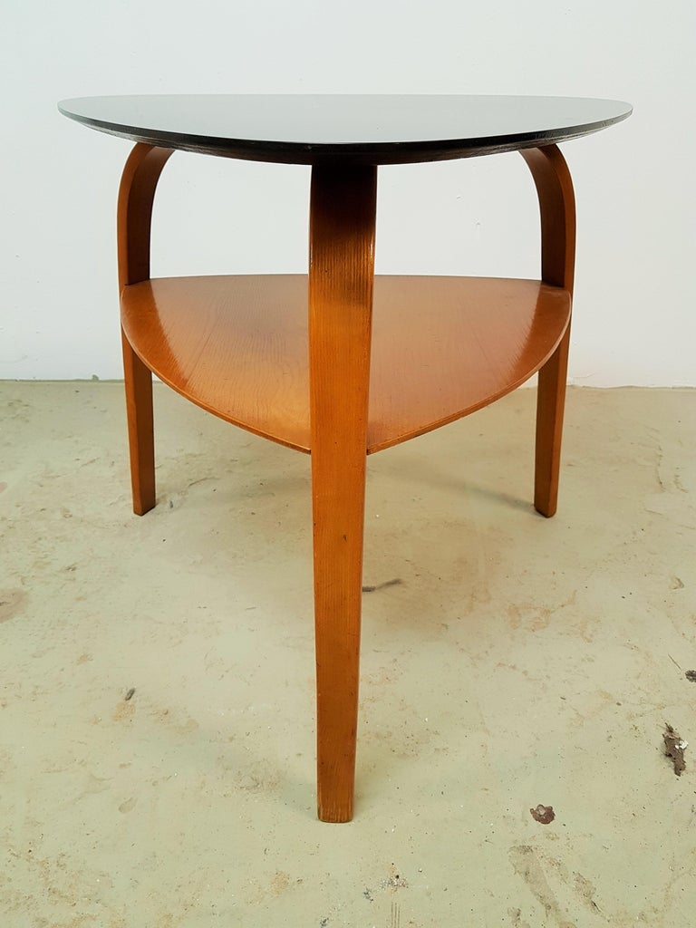 Midcentury Coffee Table Bow Wood By Steiner France 1955 For Sale At 1stdibs