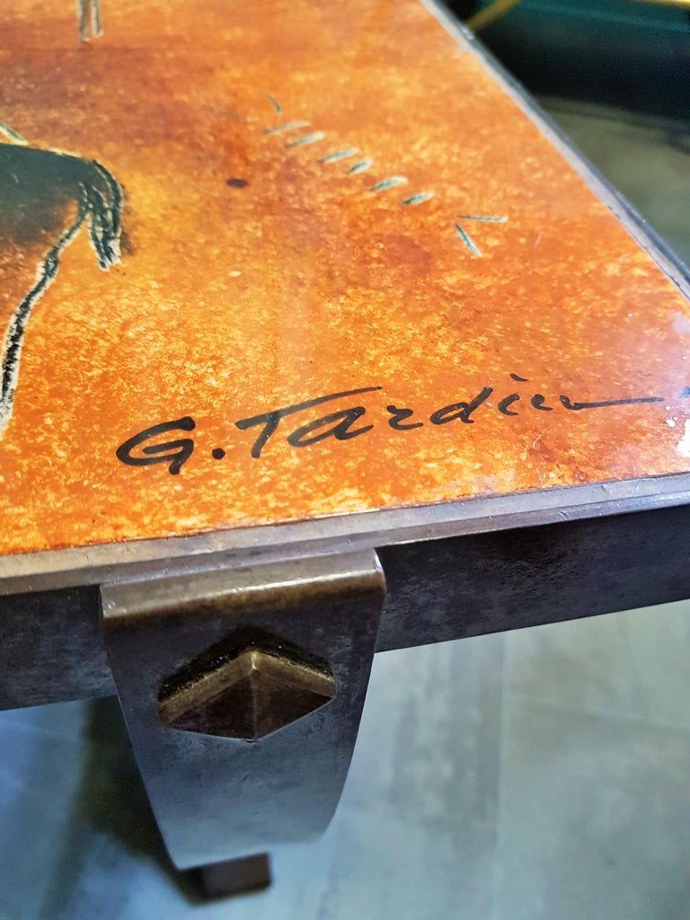 Midcentury Coffee Table by Georges Tardieu, Vallauris, France, 1960s For Sale 3