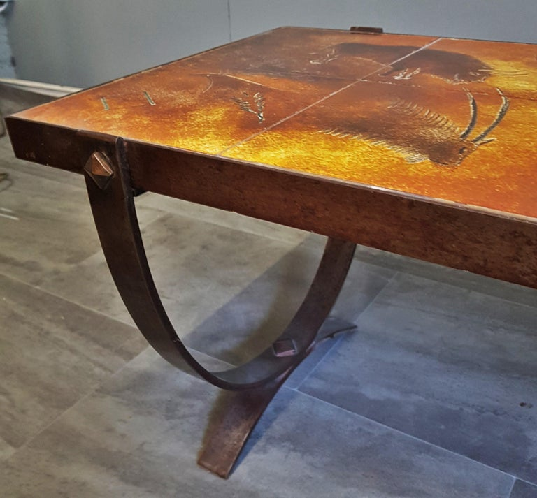 Midcentury Coffee Table by Georges Tardieu, Vallauris, France, 1960s For Sale 10