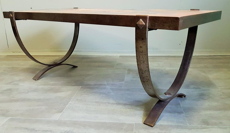 Midcentury Coffee Table by Georges Tardieu, Vallauris, France, 1960s For Sale 11