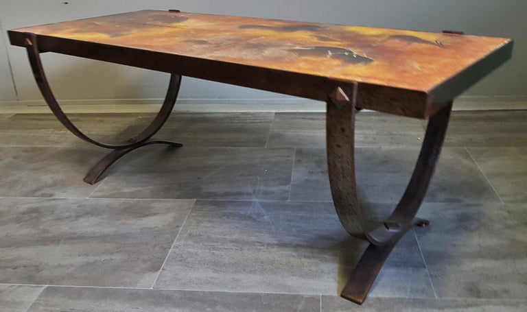 Midcentury Coffee Table by Georges Tardieu, Vallauris, France, 1960s For Sale 12