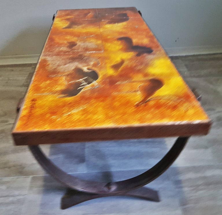 Ceramic Midcentury Coffee Table by Georges Tardieu, Vallauris, France, 1960s For Sale