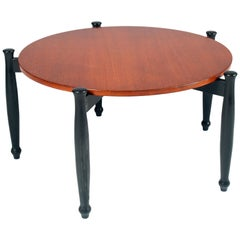 Midcentury Coffee Table in Teak Wood, Ilmari Tapiovaara Attributed from Cantù