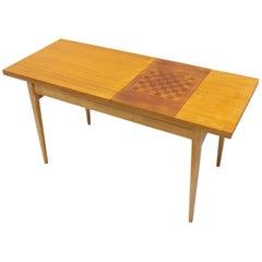 Midcentury Coffee Table with Chess Pattern, Hikor Písek, 1960s, Czechoslovakia
